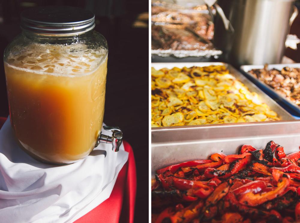 organic wedding reception food