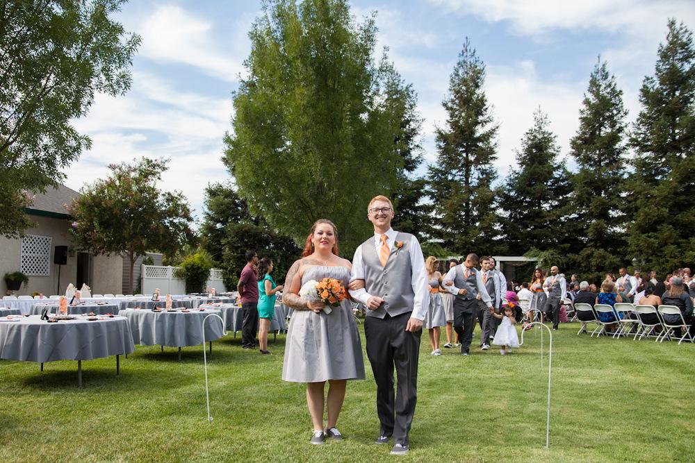 orange and grey wedding colors