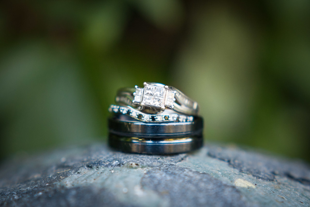 black diamond wedding band