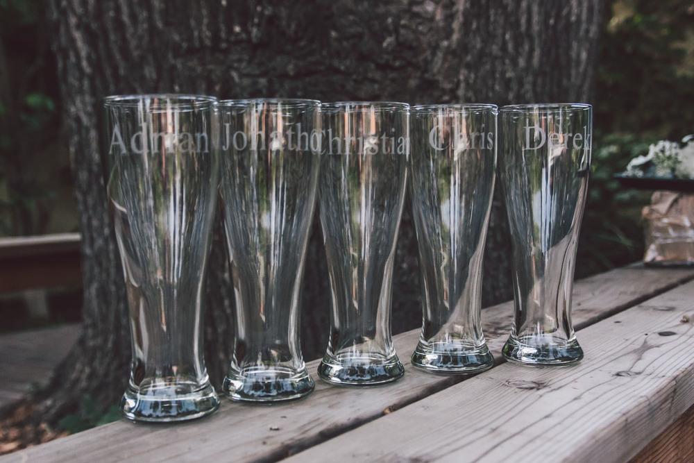 groomsmen pint glasses gift