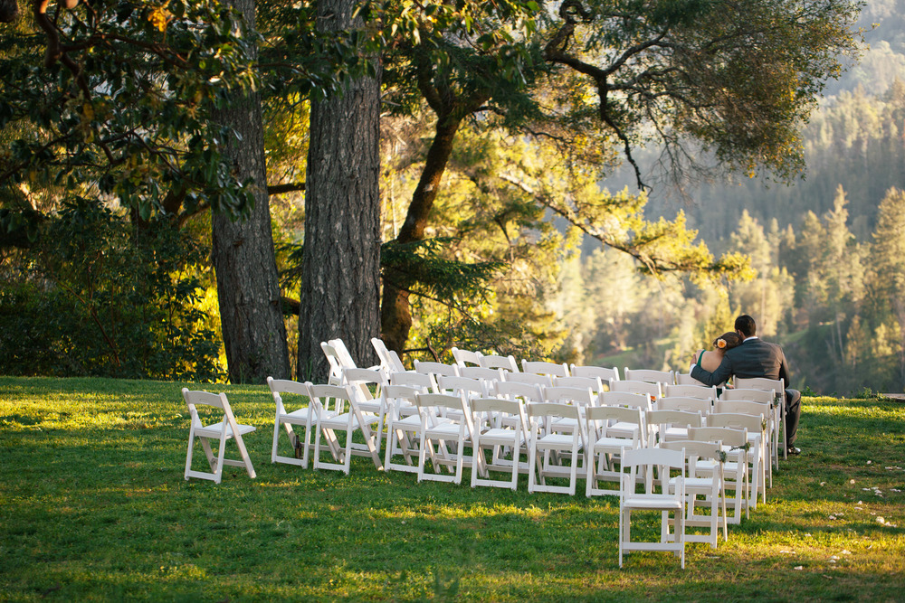 wine country forest wedding