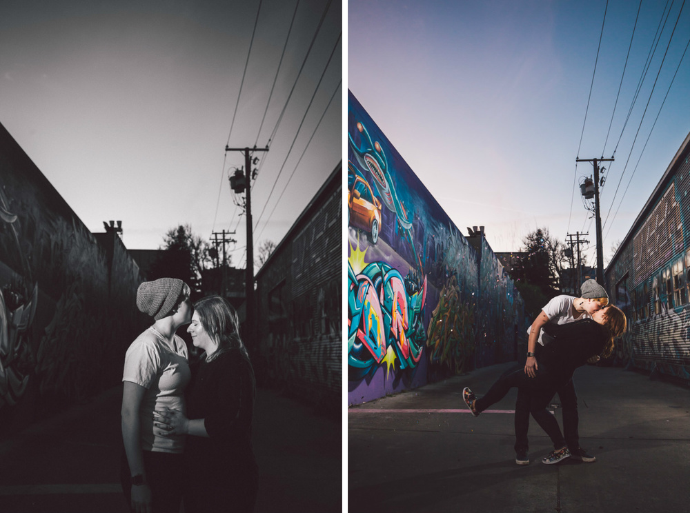 graffiti engagement photography sacramento