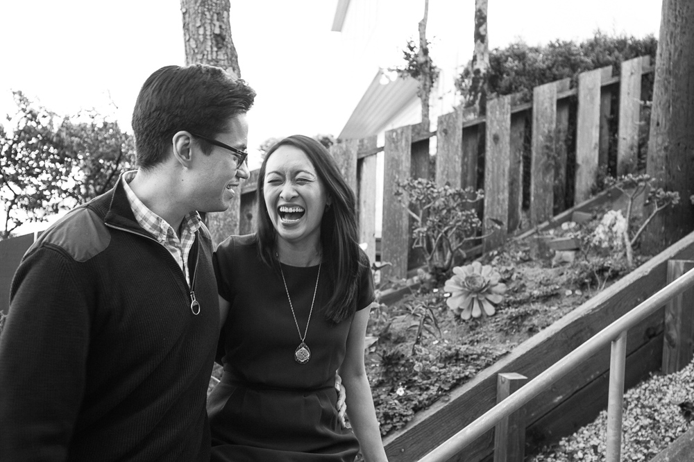 hidden garden san francisco engagement
