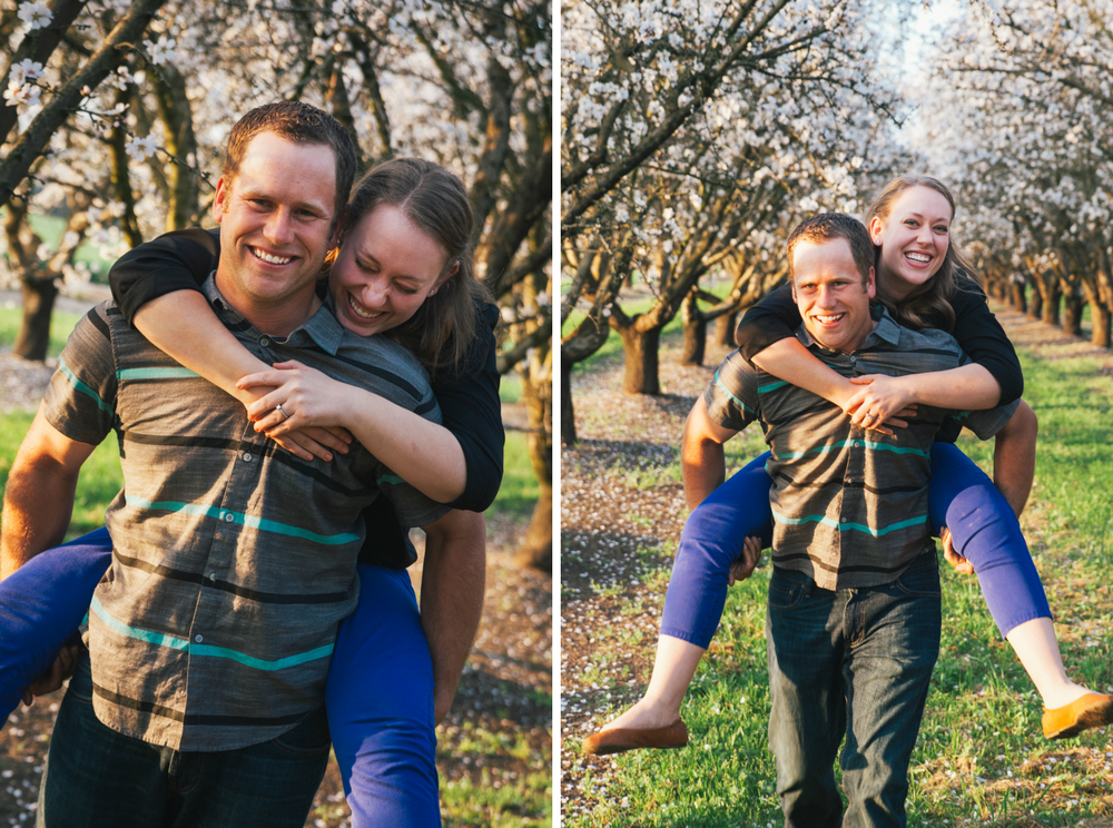 piggy back ride engagement