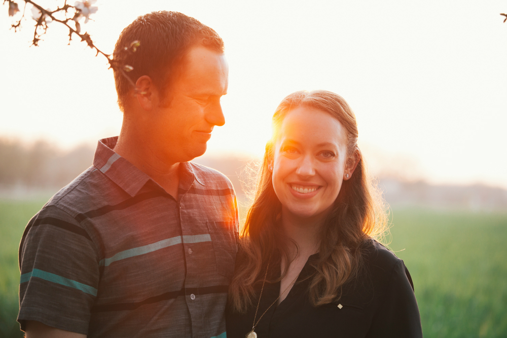 sunset engagement modesto