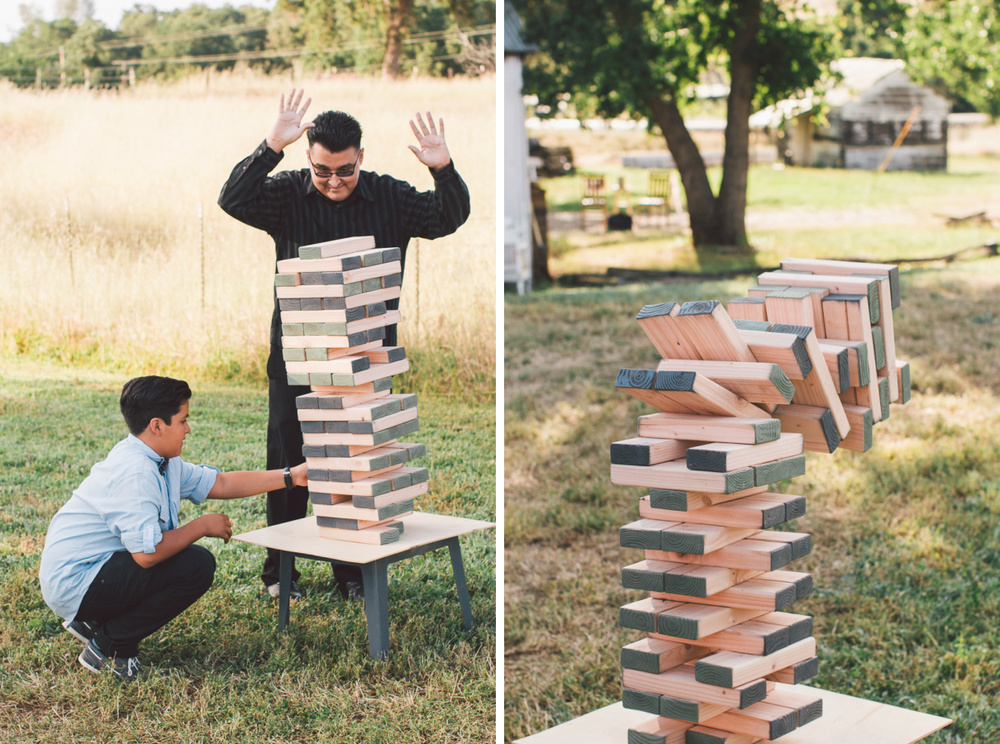 wedding giant jenga