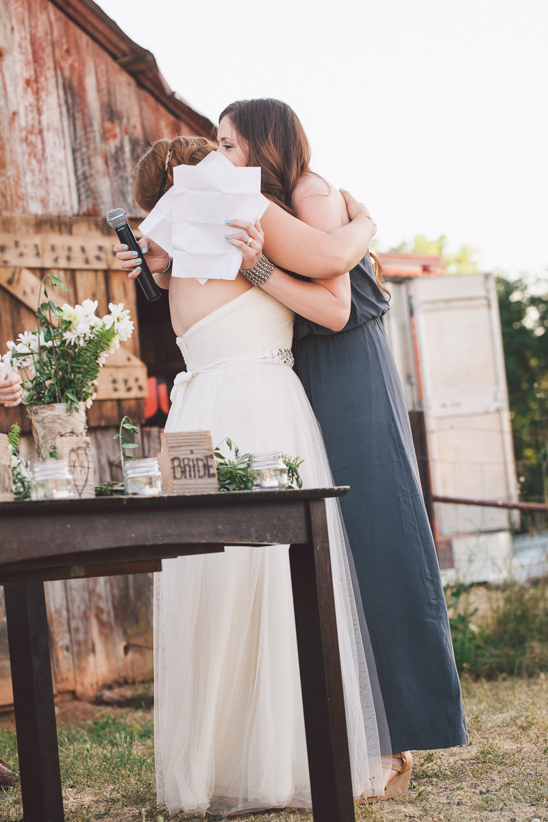 matron of honor hug