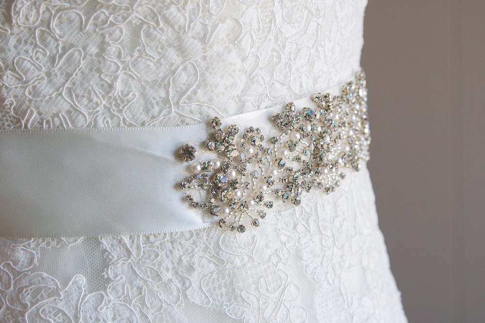 jeweled belt wedding dress