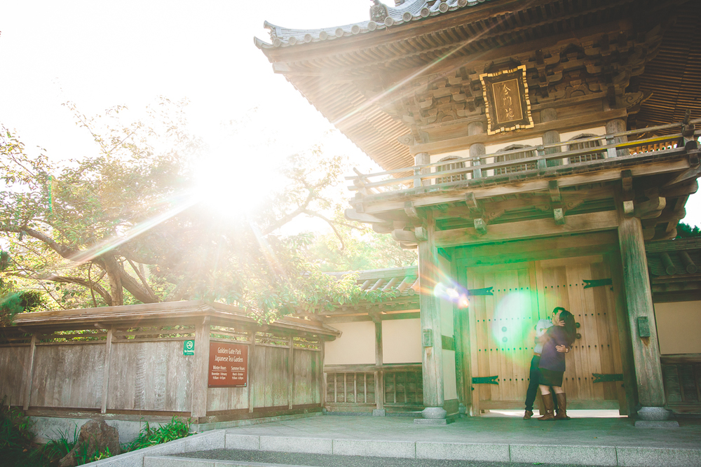 japanese tea garden engagement
