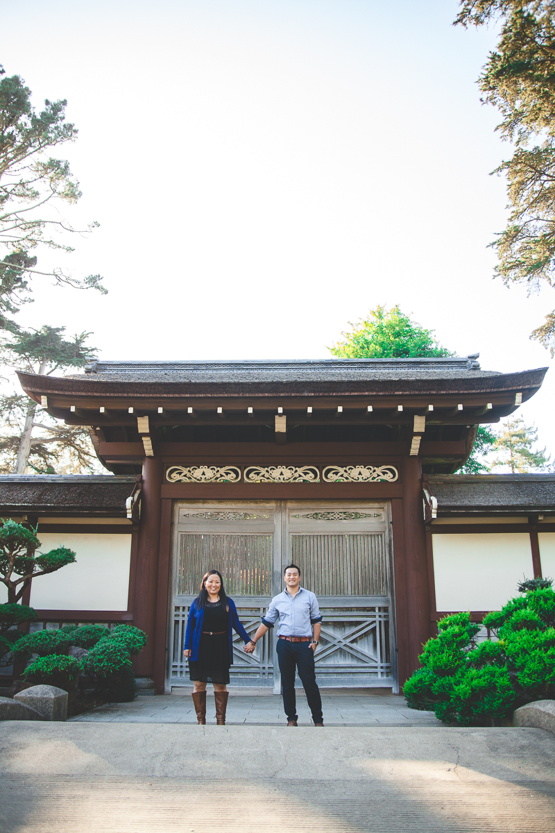 japanese tea garden san francisco engagement