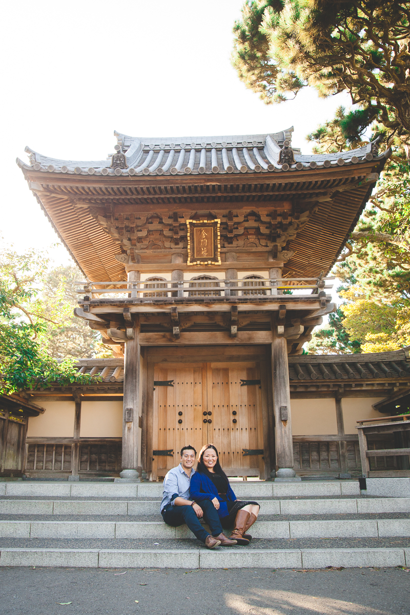 japanese tea garden engagement san francisco