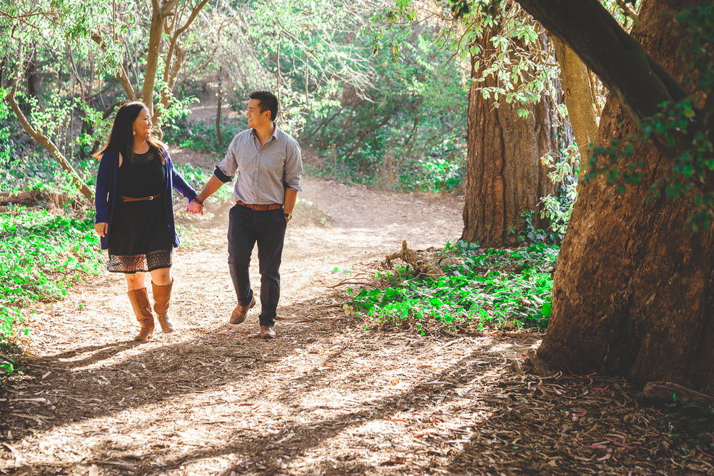 forest engagement photographer northern california