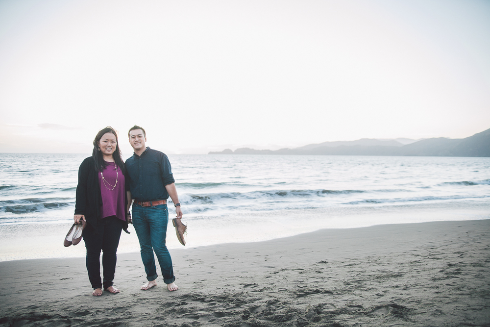 barefoot baker beach engagement