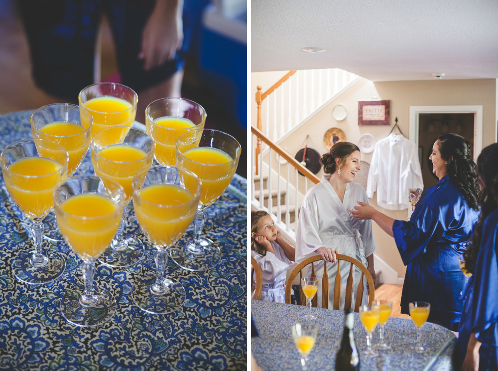 wedding morning mimosas