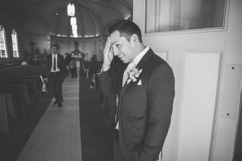 nervous groom