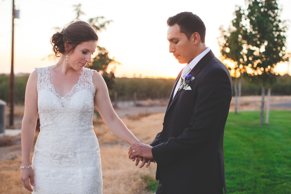 intimate modesto wedding