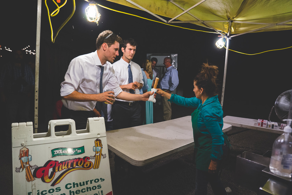 churro bar wedding