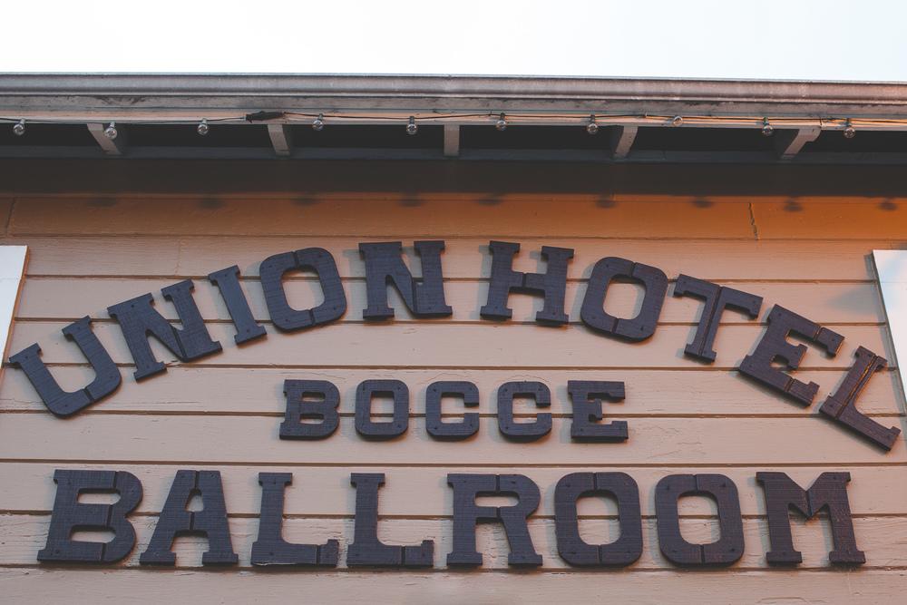 union hotel bocce ballroom