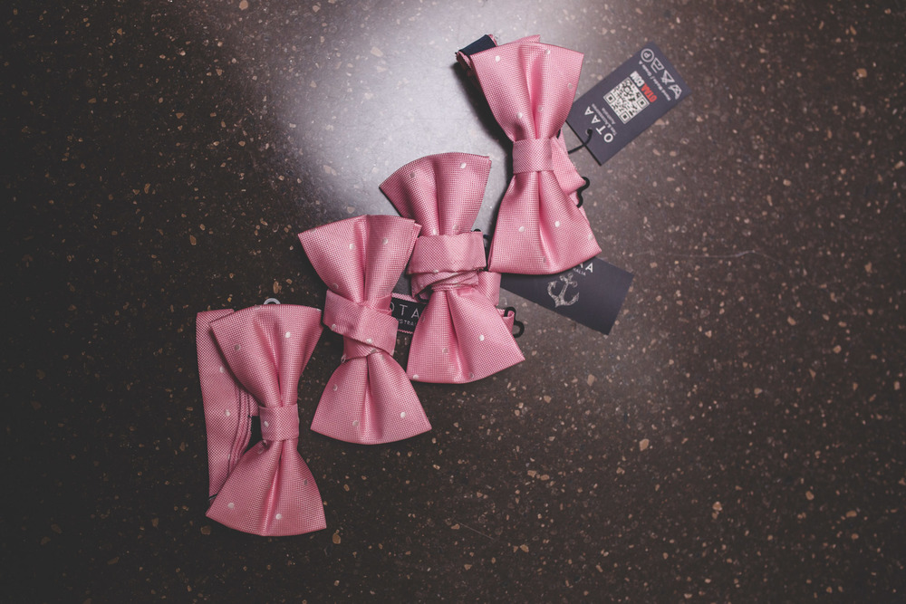 pink wedding bowties