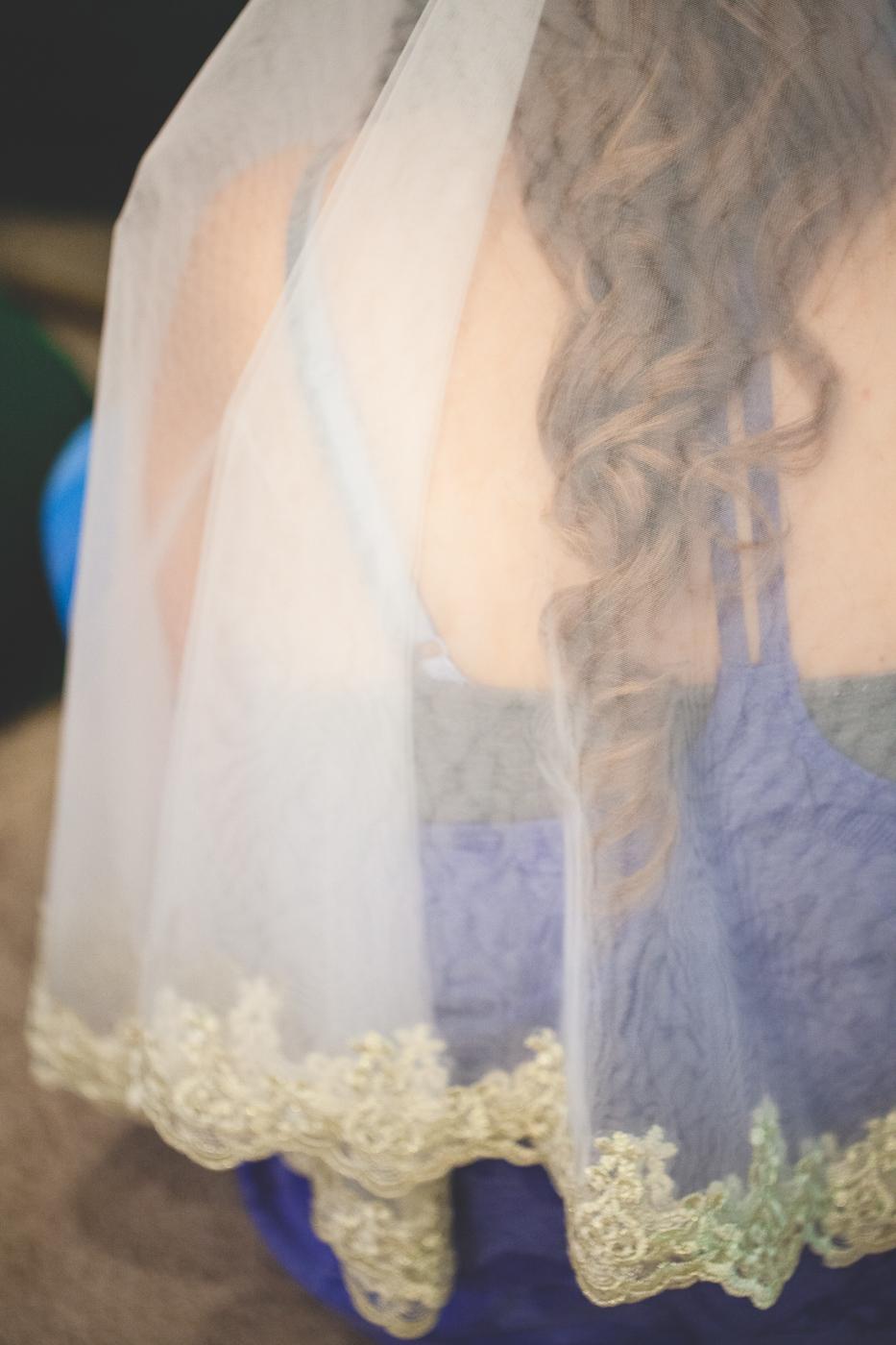 cream lace veil