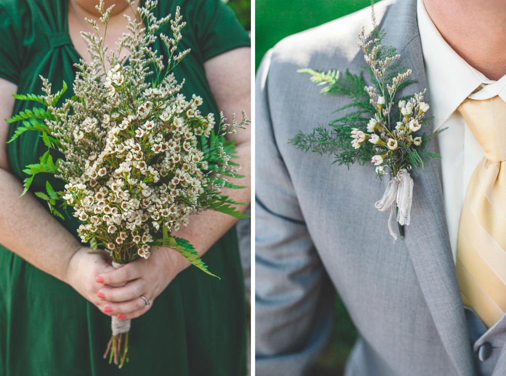 fern diy flowers wedding