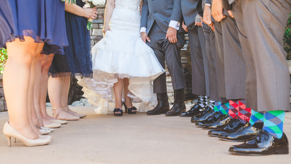 wedding party socks and shoes