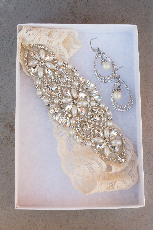 garter belt and earrings