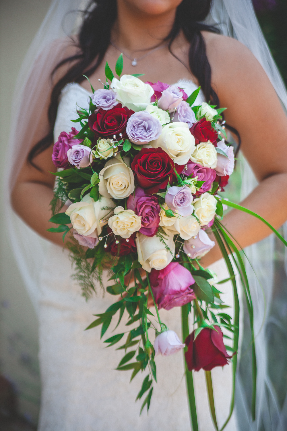 cascade rose bridal bouquet