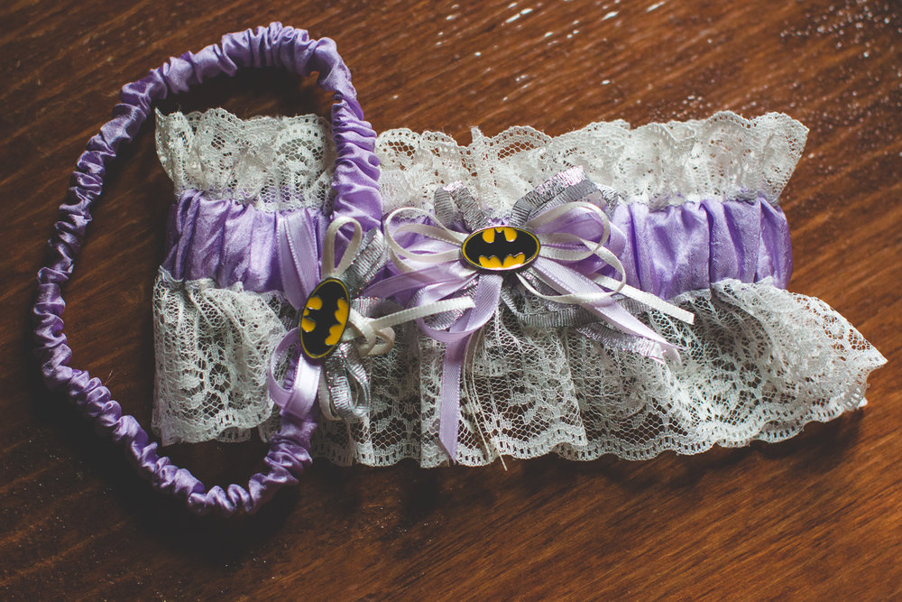 batman bride garter