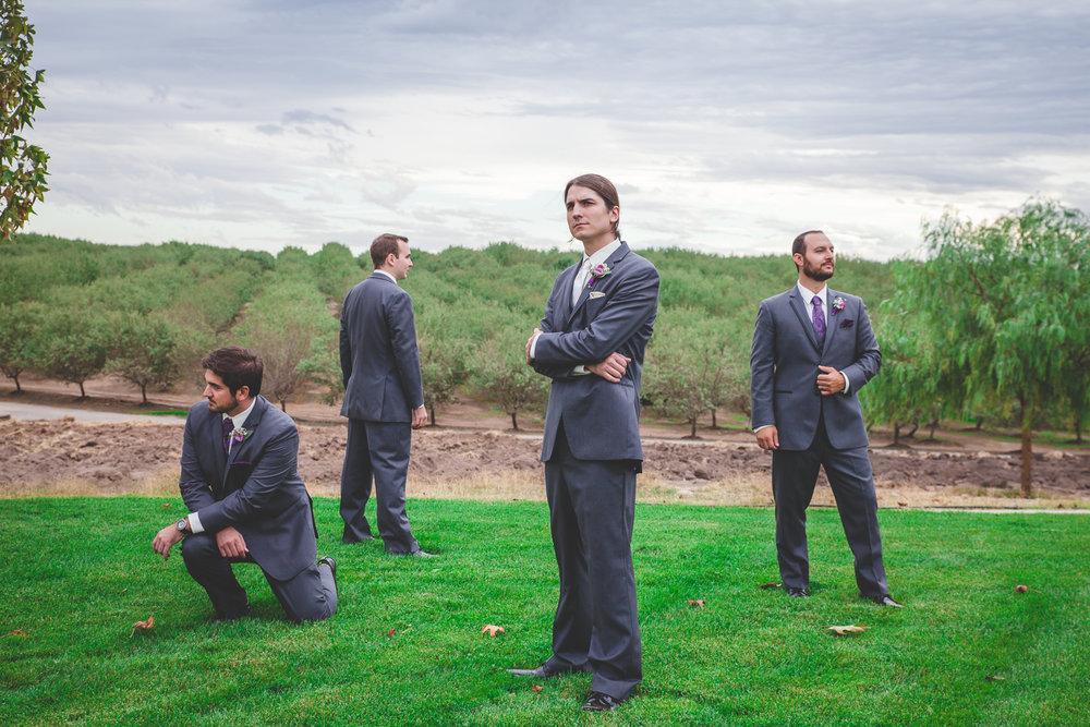 dramatic groomsmen