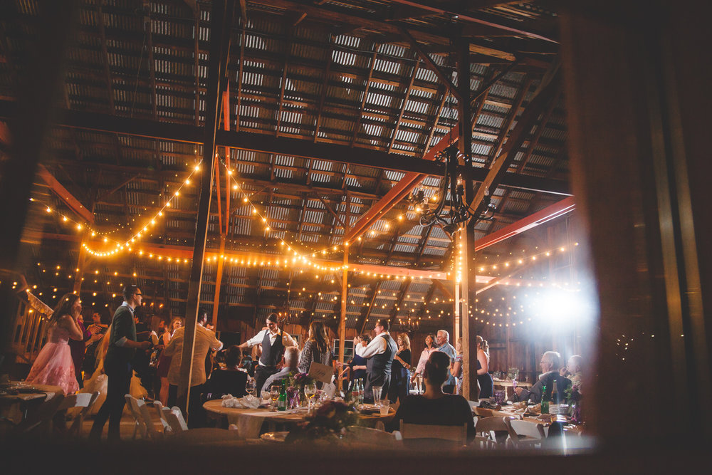 galas barn reception wedding