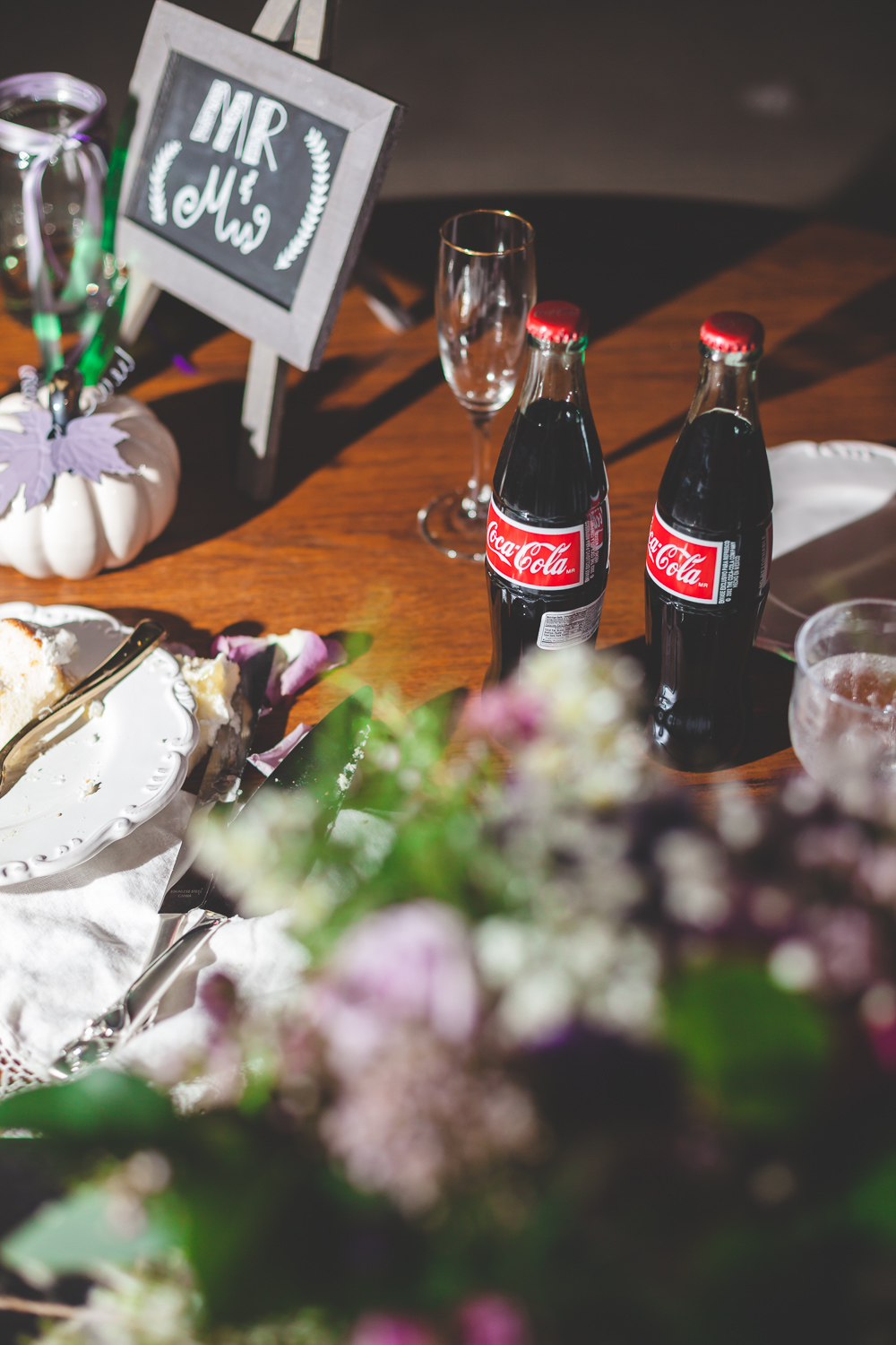 bottled coke wedding