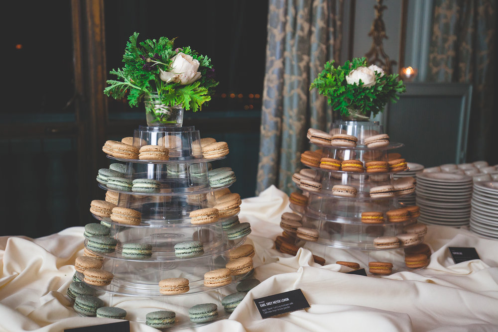 wedding macaron tower