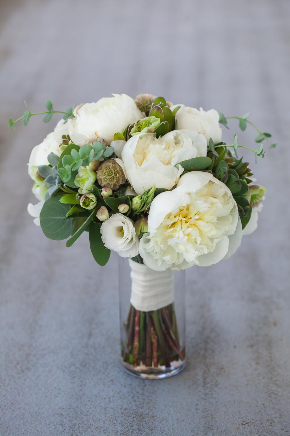 peony eucalyptus bouquet