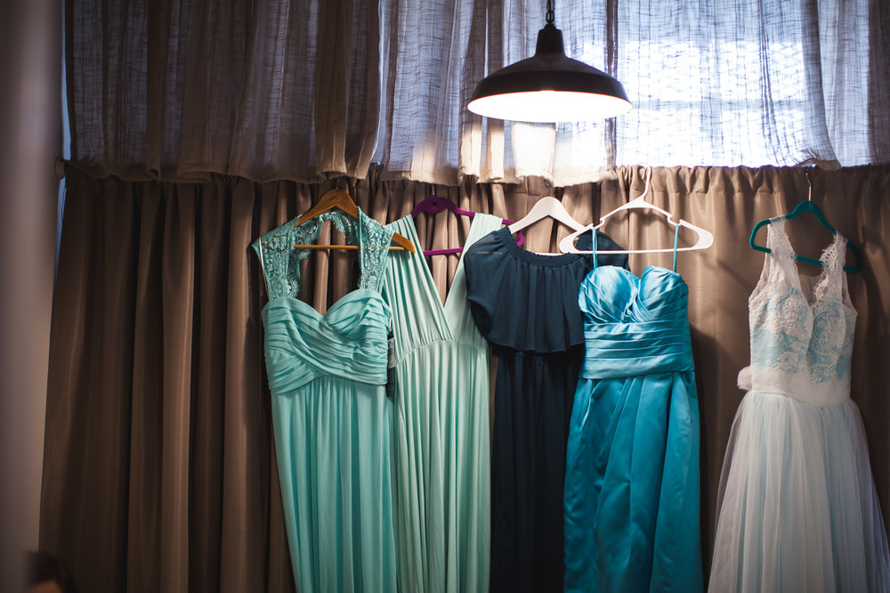 aqua green bridesmaid dresses
