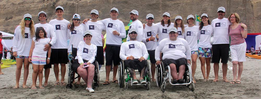 Esta fue la delegación que represento a Argentina en el Suramericano de Va'a Lima 2013