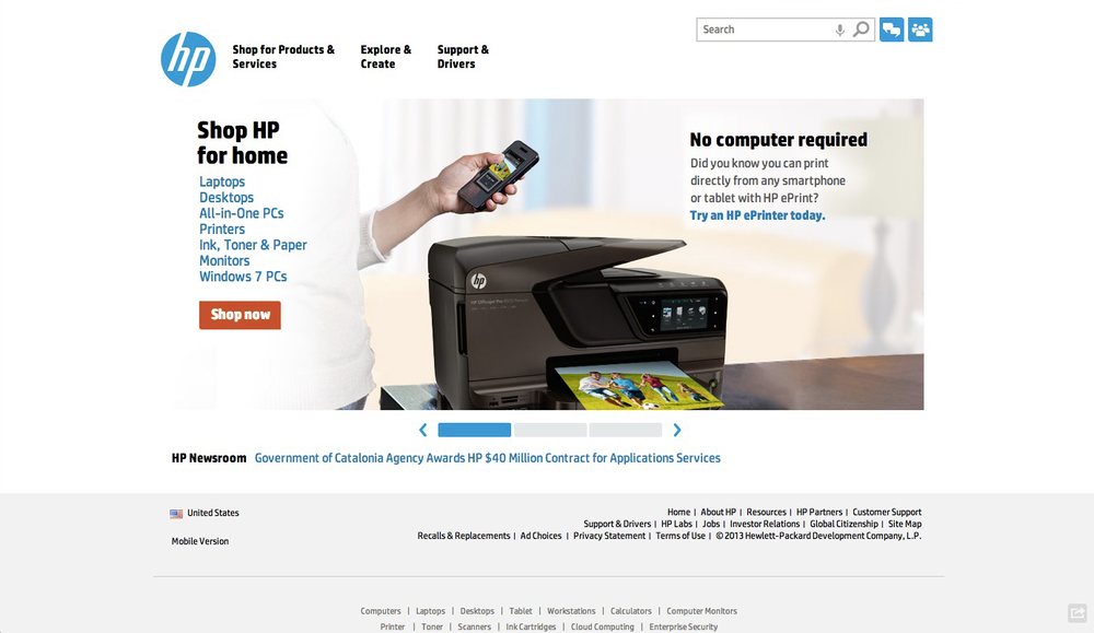 HP B2C & SMB Digital Strategy