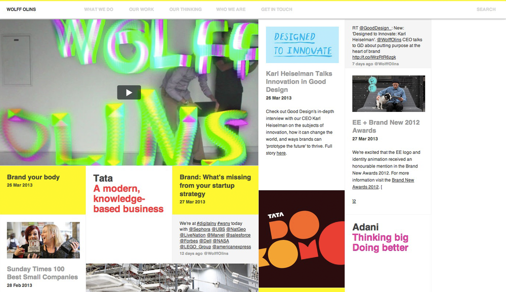 Wolff Olins Digital Strategy, Product Design, User Experience, Content Strategy