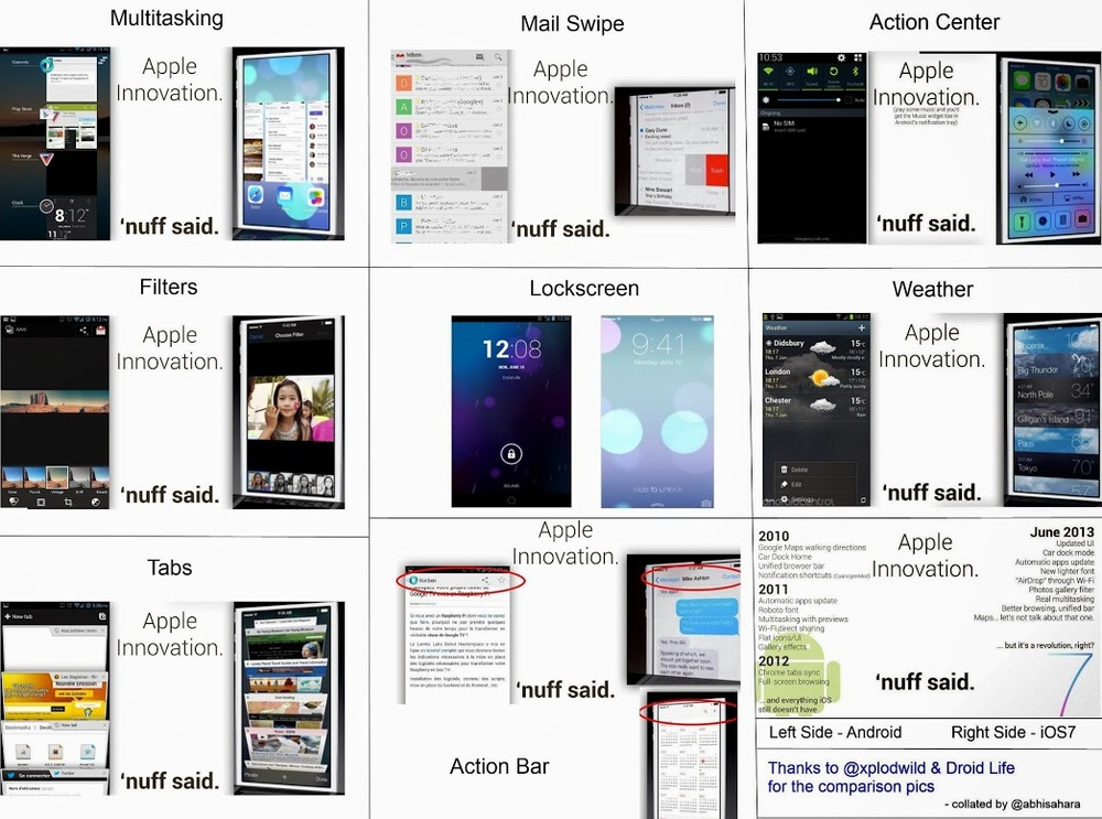 Many of these are Android firsts either