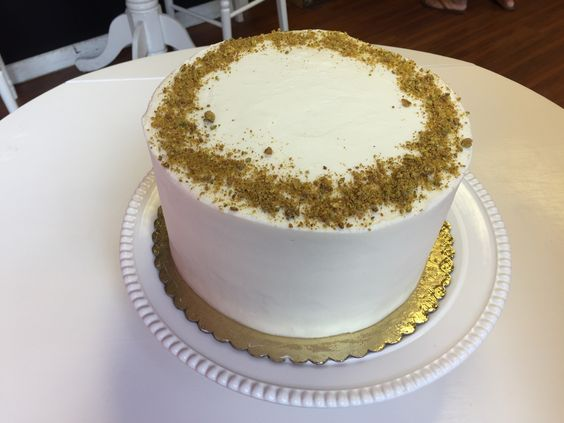 Pistachio- 3 layers of pistachio cake filled and frosted with cream cheese buttercream   6 inch $35 8 inch $45
