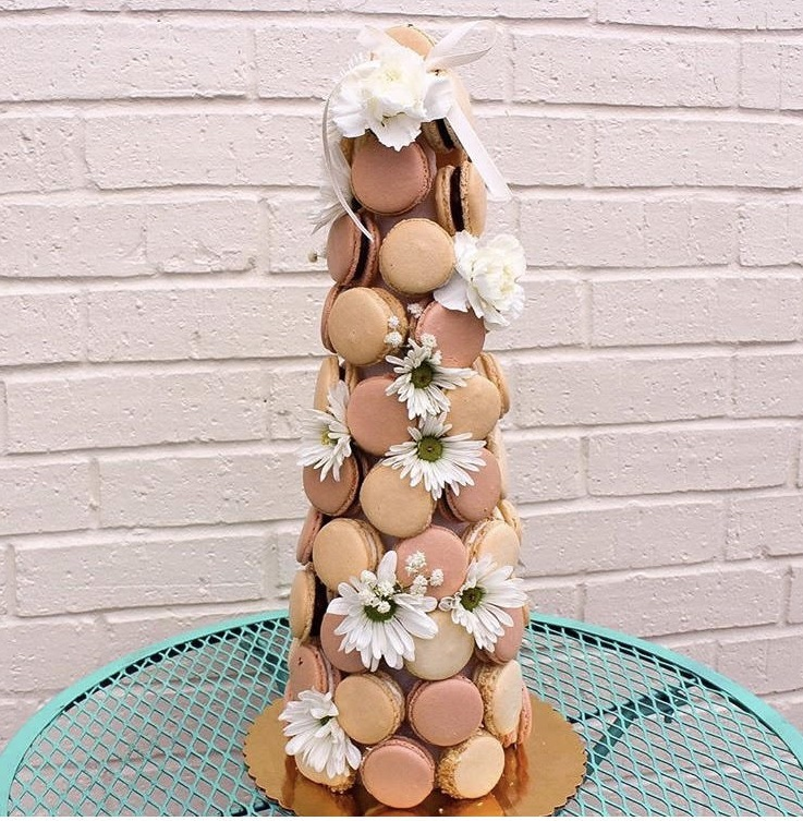 Traditional Macaron Tower - Choose from 1 1/2 to 5 dozen macarons to design your tower.