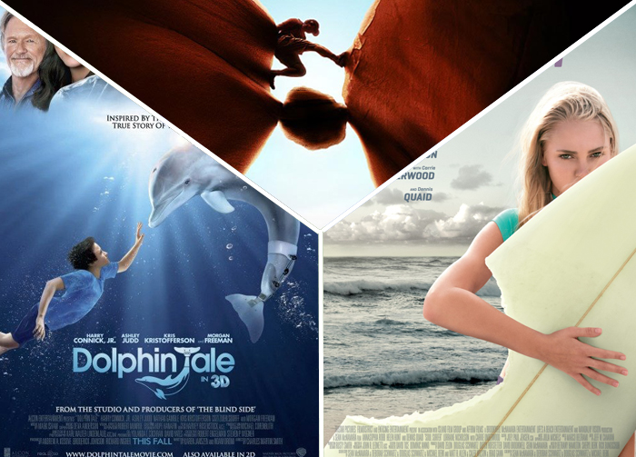 Soul Surfer, Dolphin Tale, 127 Hours (2011)
