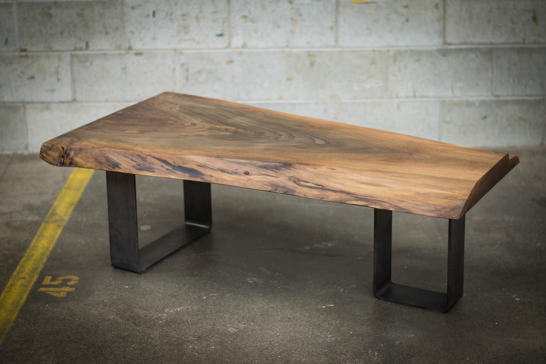Live edge black walnut coffee table bois design custom made hardwood furniture