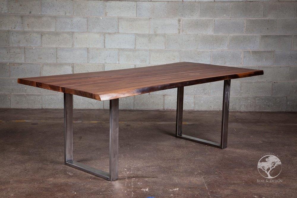 "Bien-aimé Tables ""Live edge"" sur mesure — Bois & Design - custom made  JQ99"