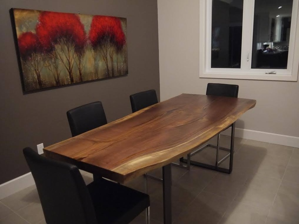 Live edge black walnut dining table u2014 Bois& Design custom made hardwood furniture # Table Basse Ronde Bois Exotique