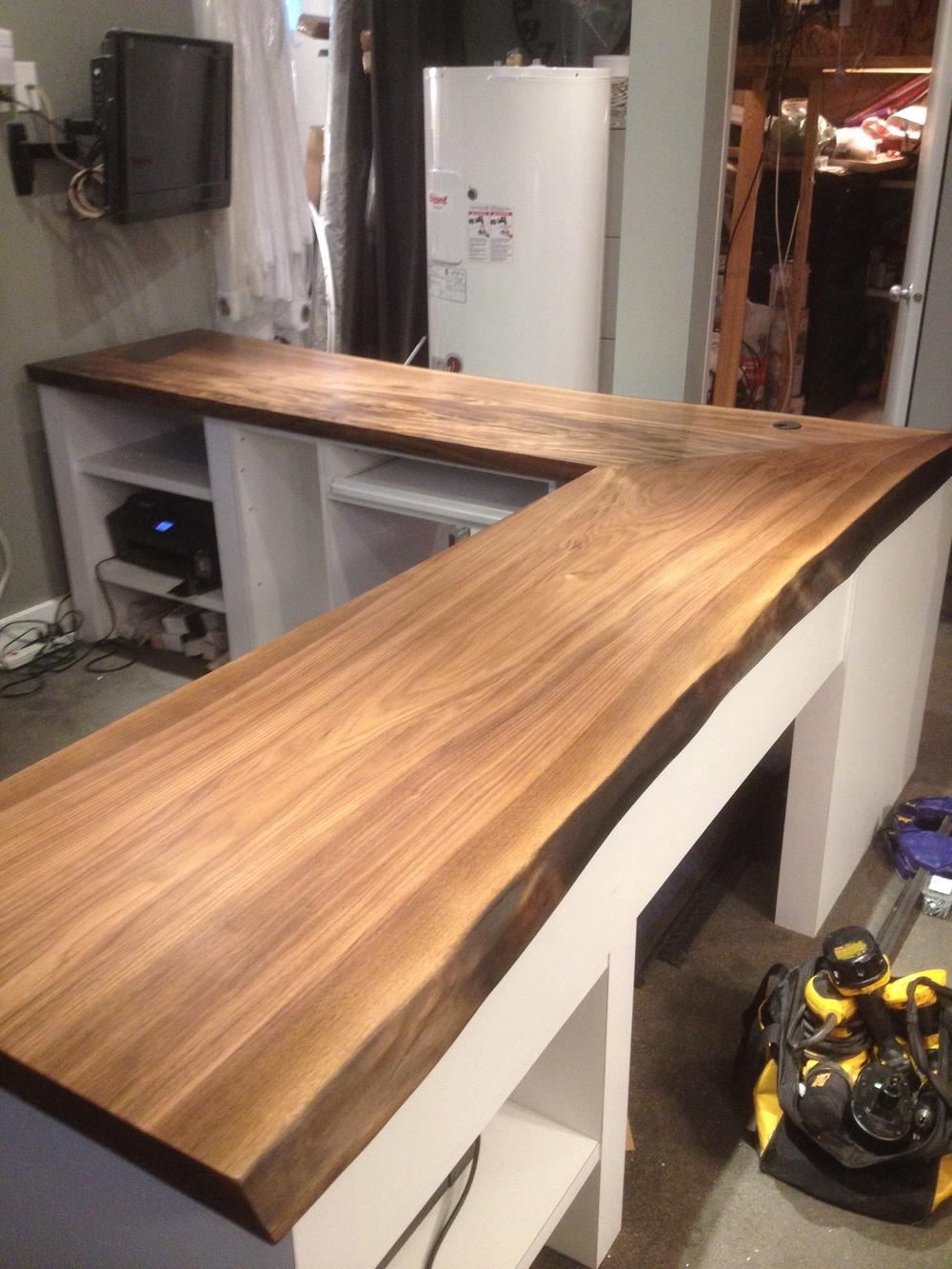 black walnut countertop