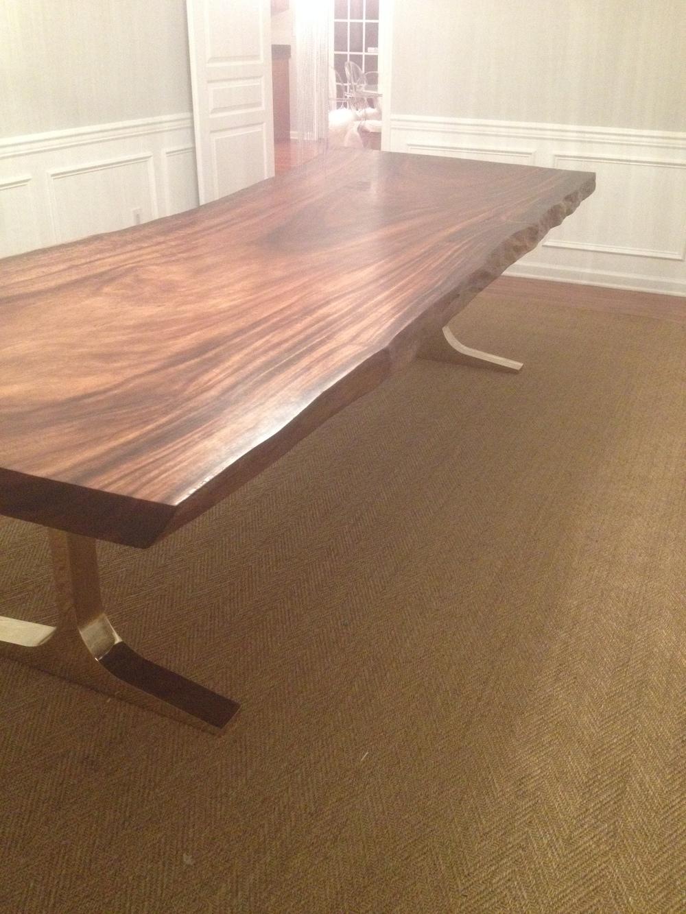 live edge parota dining table