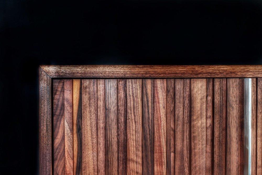 Black walnut credenza door