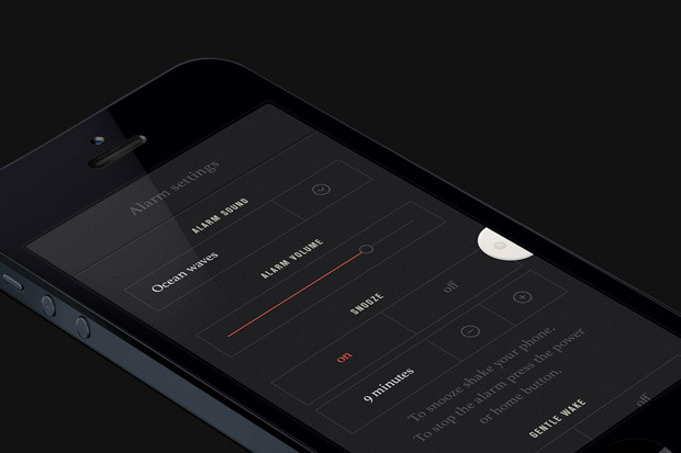 Shadow app concept for iPhone