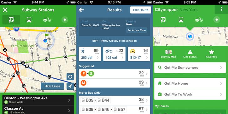 CityMapper app for New York City